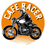 Cafe racer motorcycle badge Stock Photo