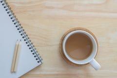Caffè della tazza per lavoro Immagine Stock