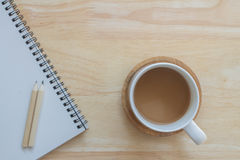 Caffè della tazza per lavoro Immagini Stock