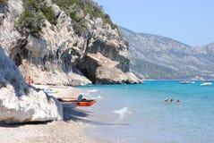 Cala Luna-Tropical paradise in Sardinia Stock Image