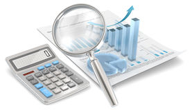 Calculate Growth. Royalty Free Stock Photos