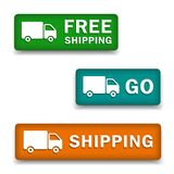 Calculate shipping buttons Royalty Free Stock Photo