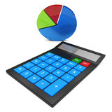Calculate Statistics Shows Calculated Data And Statistical Royalty Free Stock Photography
