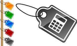 Calculate tags. Royalty Free Stock Images
