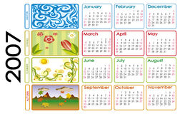 Calendar for 2007 Royalty Free Stock Image