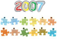Calendar for 2007 Royalty Free Stock Photos