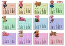 Calendar on 2007 year Royalty Free Stock Image