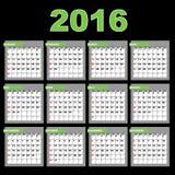 2016 Calendar Royalty Free Stock Image