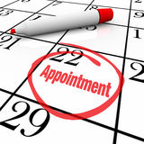 Calendar - Appointment Day Circled for Reminder Royalty Free Stock Photo