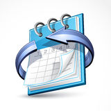 Calendar with blue arrow Stock Photo