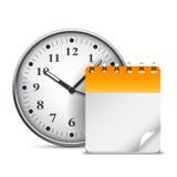 Calendar and clock. Stock Image