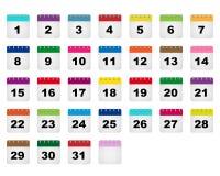 Calendar days icons Royalty Free Stock Photo