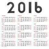 2016 calendar Royalty Free Stock Photos