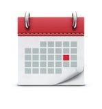 Calendar icon Stock Photography