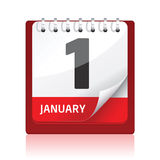 Calendar icon | Red Royalty Free Stock Photography