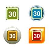 Calendar Icons Royalty Free Stock Photo