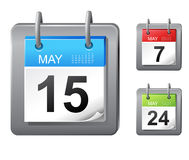 Calendar icons Stock Images