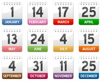 Calendar Icons Set Stock Image