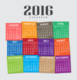 Calendar 2016 Royalty Free Stock Images