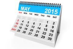 Calendar May 2015 Stock Images