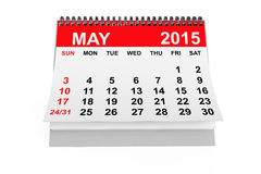 Calendar May 2015 Stock Photography