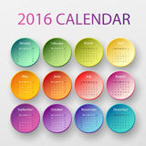 The 2016 calendar Stock Image