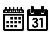 Calendar vector icon Royalty Free Stock Photography