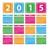 Calendar 2015 Royalty Free Stock Photography