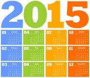 Calendar for Year 2015 Stock Photos