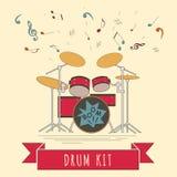 Calibre de graphique d'instruments de musique Drumkit Images stock