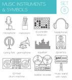 Calibre de graphique d'instruments de musique et de symboles Photo libre de droits
