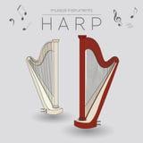 Calibre de graphique d'instruments de musique harpe Photographie stock