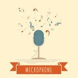 Calibre de graphique d'instruments de musique Microphone Image libre de droits