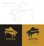 Calibre de graphique d'instruments de musique Piano à queue Images libres de droits