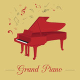 Calibre de graphique d'instruments de musique Piano à queue Photo libre de droits