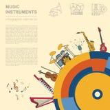 Calibre de graphique d'instruments de musique Tous les types d'instr musical Photographie stock libre de droits