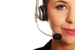 Call center woman Stock Photography