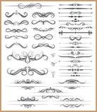 Calligraphic decorative elements Royalty Free Stock Photo