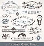 Calligraphic design elements & page decor Royalty Free Stock Photo