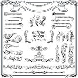 Calligraphic design elements, page decoration Royalty Free Stock Photos