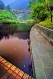 Calm lake in Wudang, China Stock Image