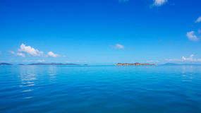 Calm sea, blue ocean sky and horizon Royalty Free Stock Photography