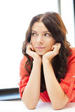 Calm and serious woman Stock Images