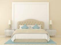 Camera da letto beige Fotografia Stock
