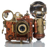 Camera steampunk Royalty Free Stock Images