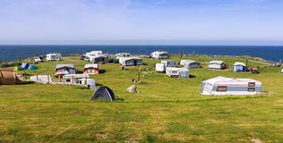 Camping near sea Royalty Free Stock Images