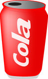 Can of cola Royalty Free Stock Photo