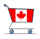 Canada trade market surplus deficit shopping cart Royalty Free Stock Image