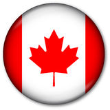 Canadian Flag Button Royalty Free Stock Photos