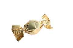 Candy sweet gold wrapper Stock Image